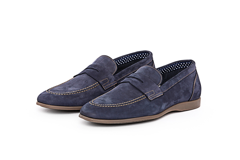 Distilo - Loafer Nobuck Blue